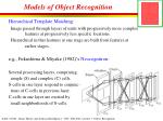 models of object recognition1