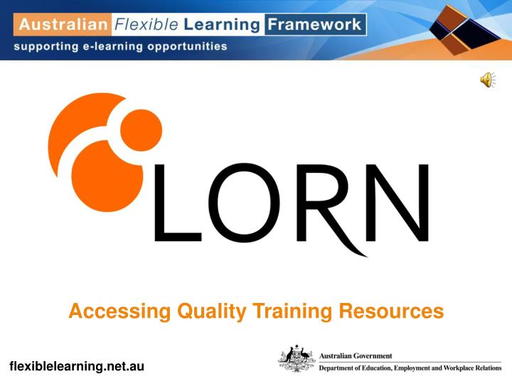 Accessing Quality Training Resources