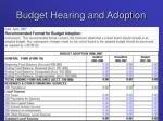 budget hearing and adoption1