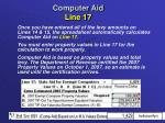 computer aid line 17