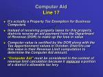 computer aid line 171