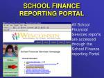 school finance reporting portal