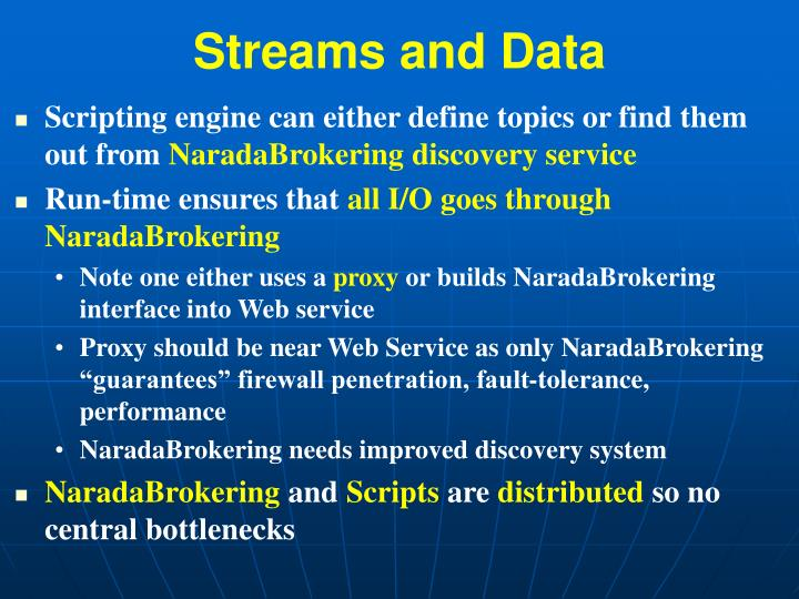 Streams and Data