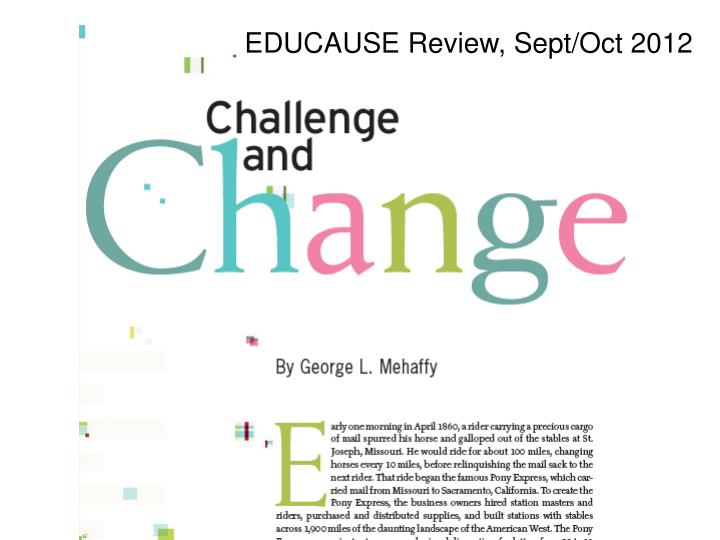 EDUCAUSE Review, Sept/Oct 2012