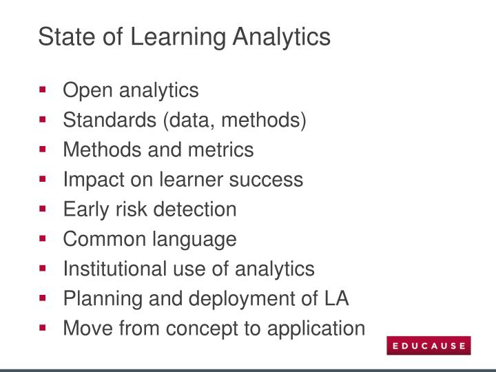 State of Learning Analytics
