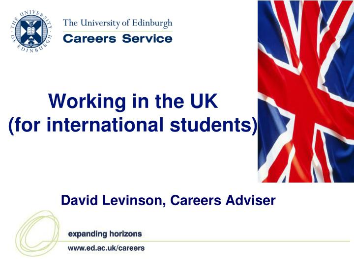 working in the uk for international students n.