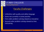 faculty challenges