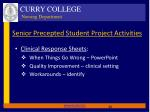 senior precepted student project activities1