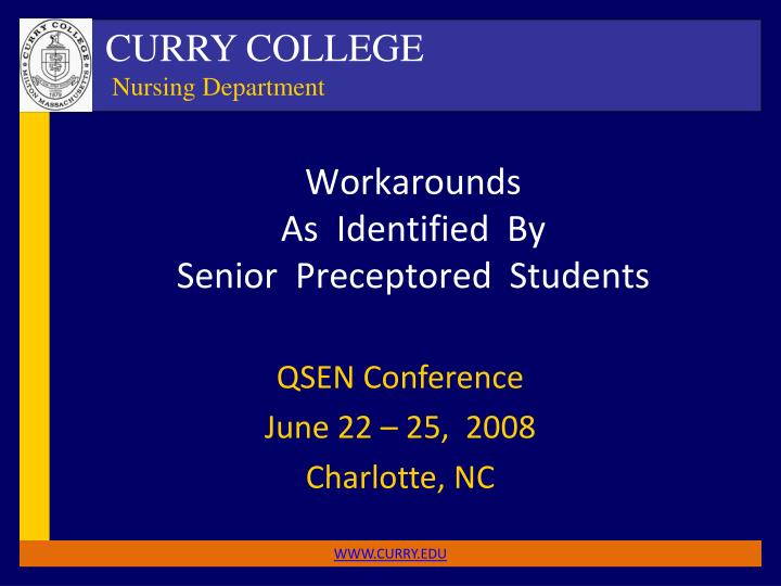 workarounds as identified by senior preceptored students n.