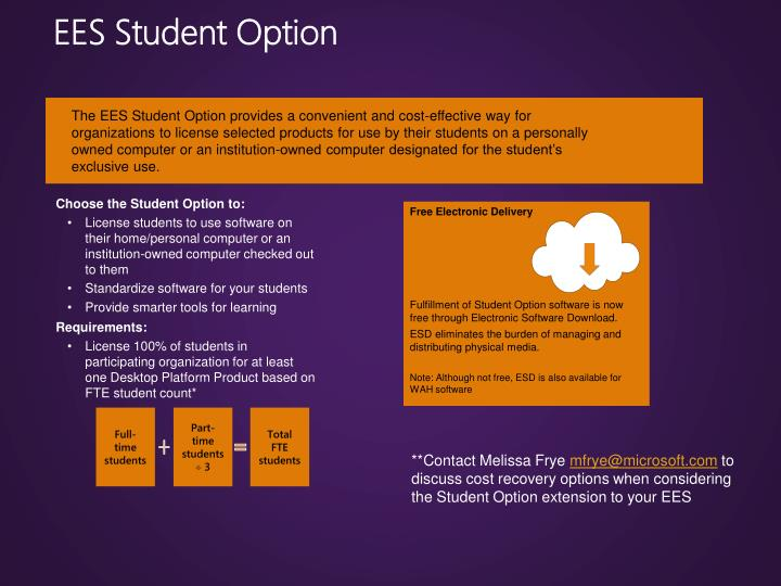 EES Student Option