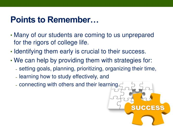 Points to Remember…