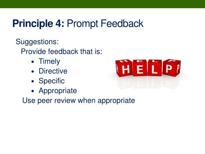 Principle 4:
