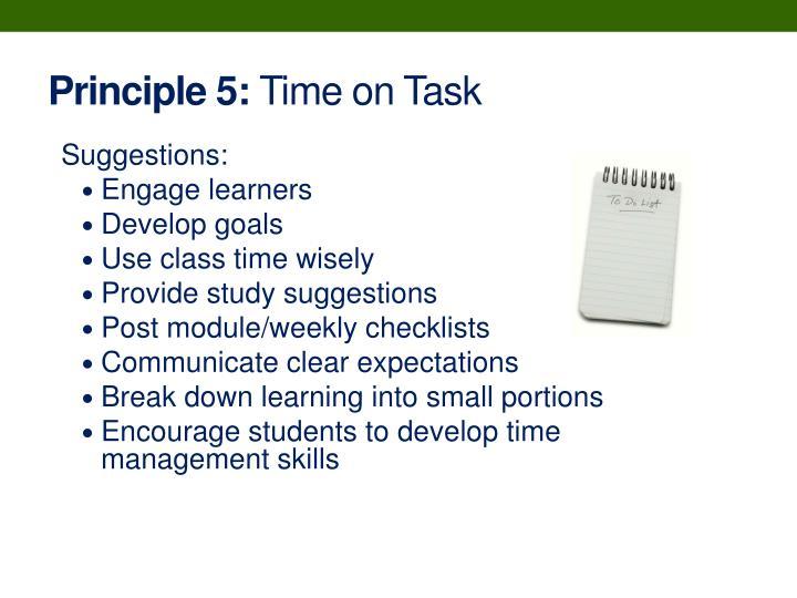 Principle 5: