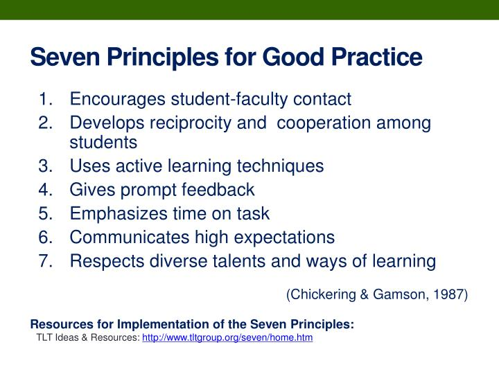 Seven Principles for Good Practice