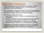 estrategias adaptativas