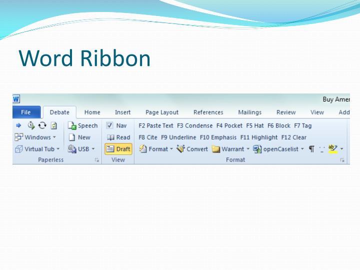 Word Ribbon