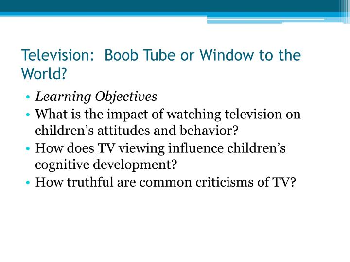the impact of the tv violence on children Effects of television violence on children and on television can have a negative impact on the minds and well being children and tv violence 03.