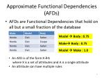 approximate functional dependencies afds
