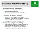 previous amendments 1