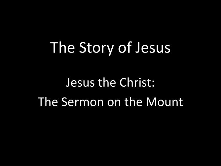 the story of jesus n.