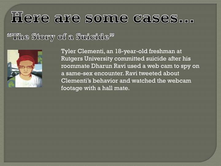 Here are some cases…