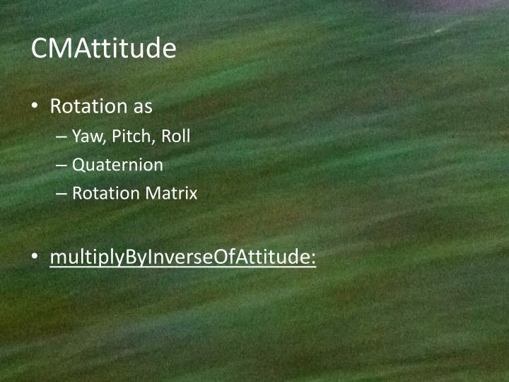 CMAttitude