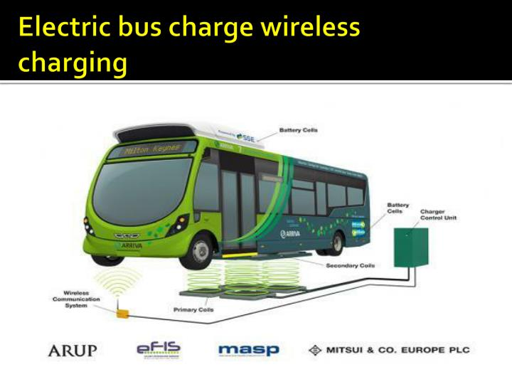 Electric bus charge wireless charging