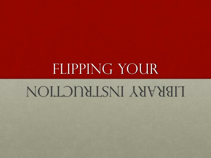 flipping your n.