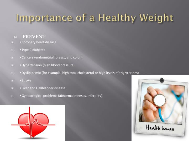 Importance of a healthy weight