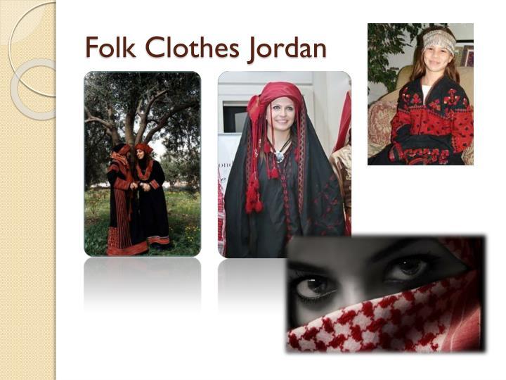 Folk clothes jordan