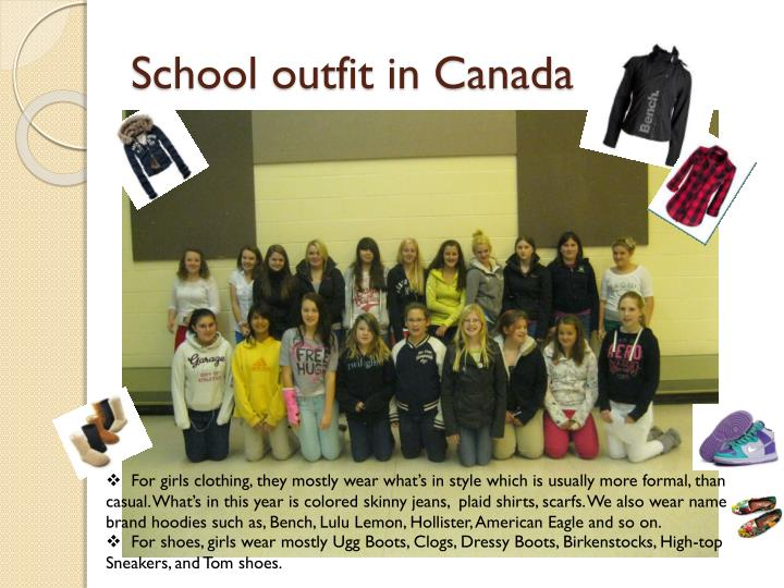 School outfit in Canada