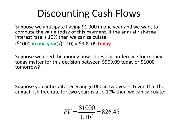 Discounting Cash Flows