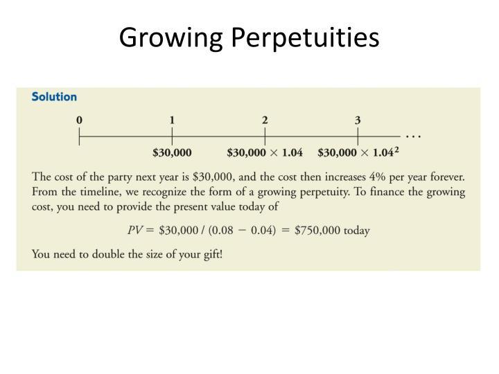 Growing Perpetuities