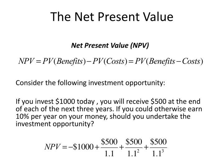The Net Present Value