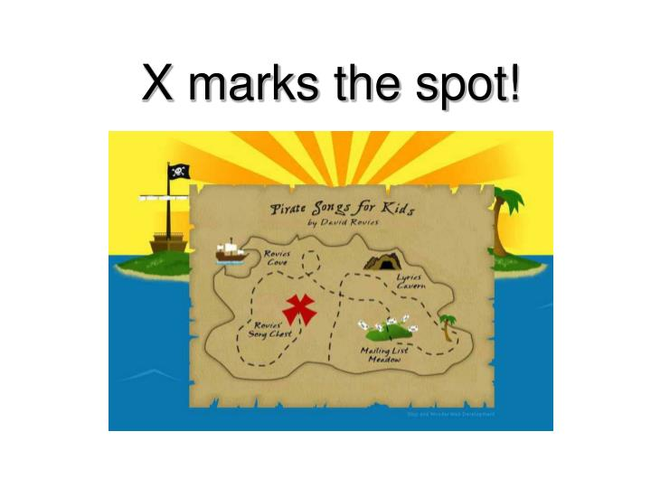 x marks the spot n.