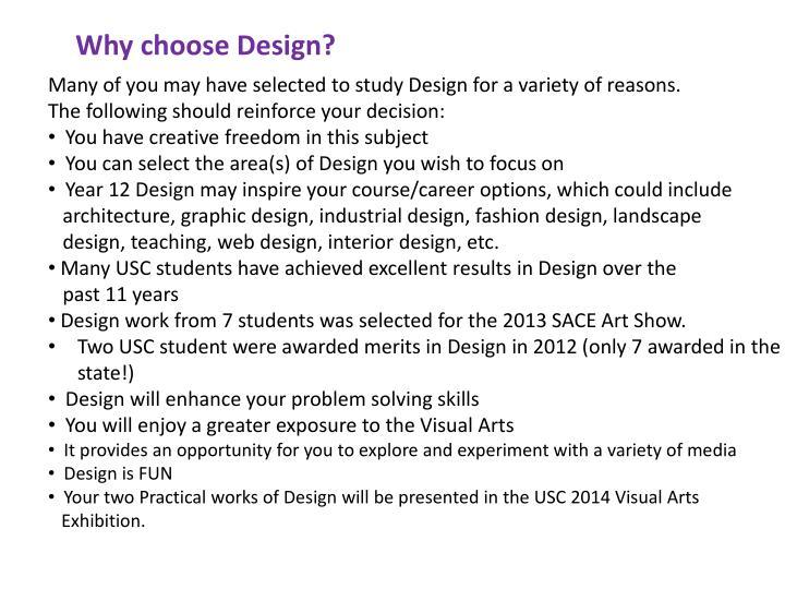 Why choose Design?