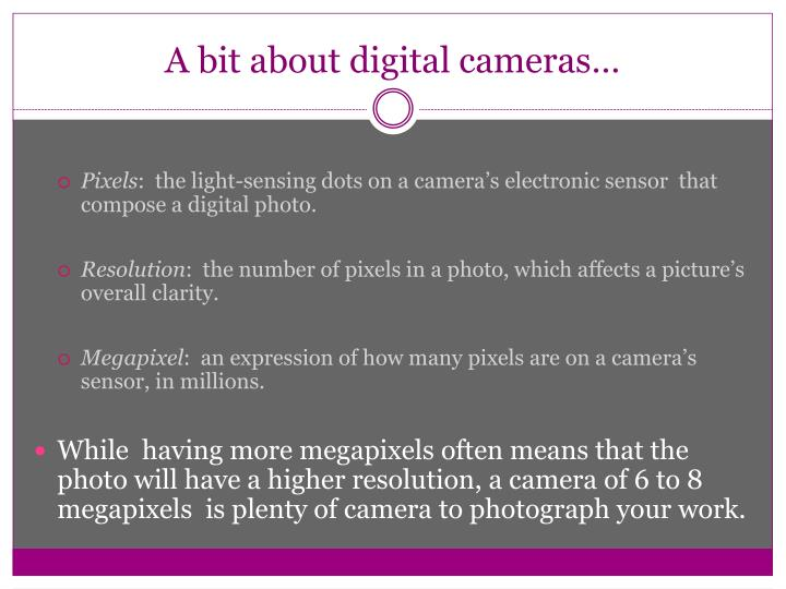 A bit about digital cameras…