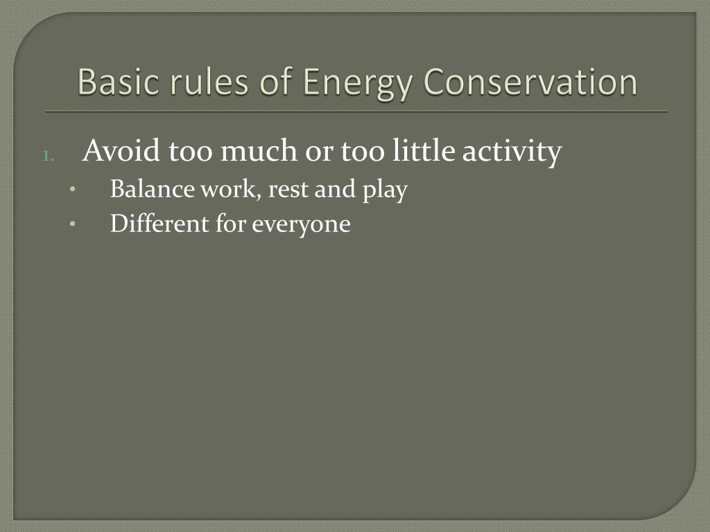 PPT - ENERGY CONSERVATION PowerPoint Presentation - ID:1764006