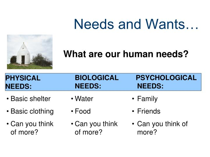 PHYSICAL NEEDS: