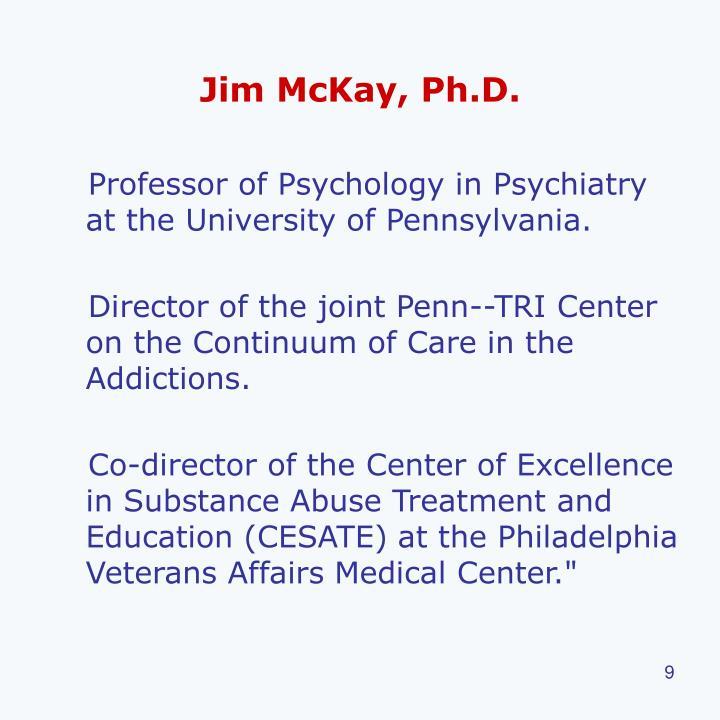 Jim McKay, Ph.D.