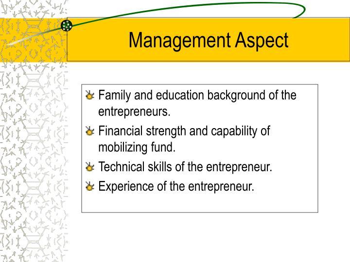 Management Aspect