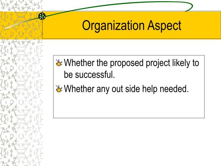 Organization Aspect
