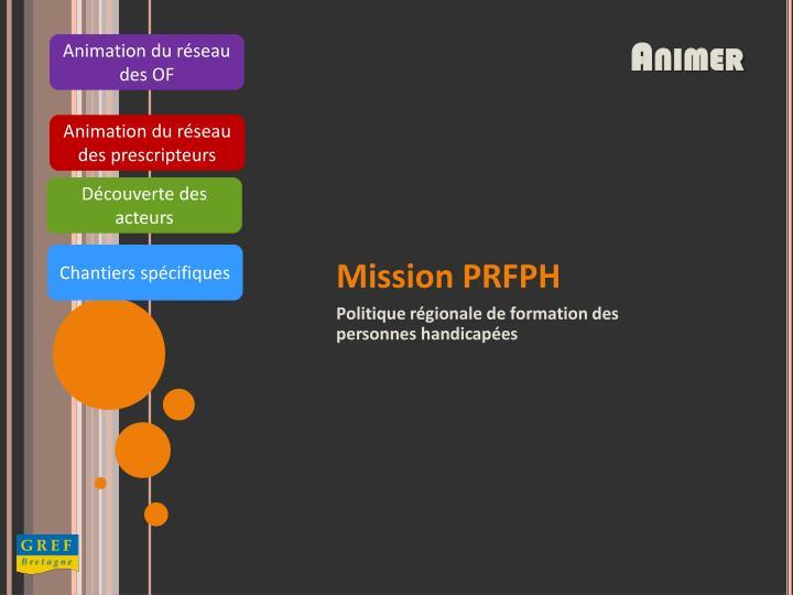 Animation du réseau des OF
