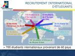 recrutement international d tudiants