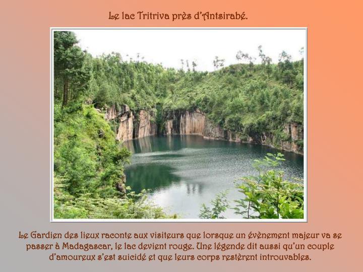Le lac Tritriva près d'Antsirabé.