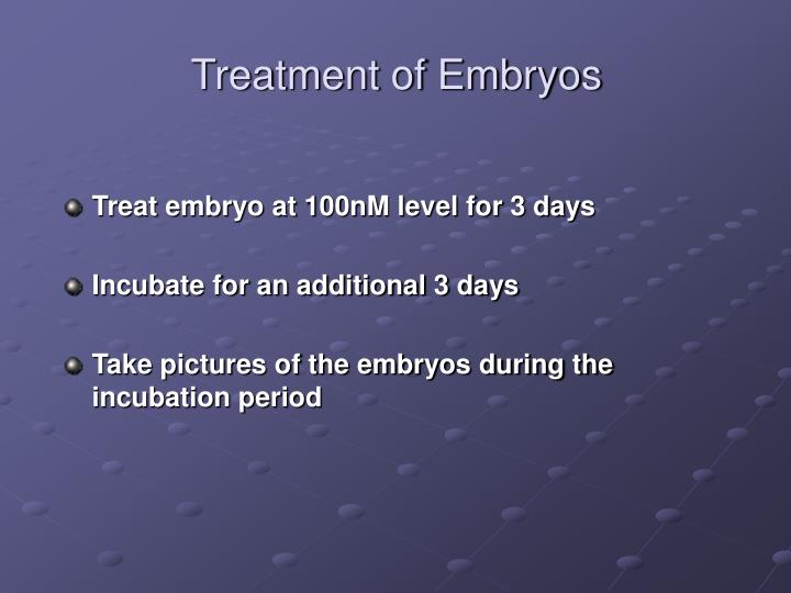 Treatment of Embryos