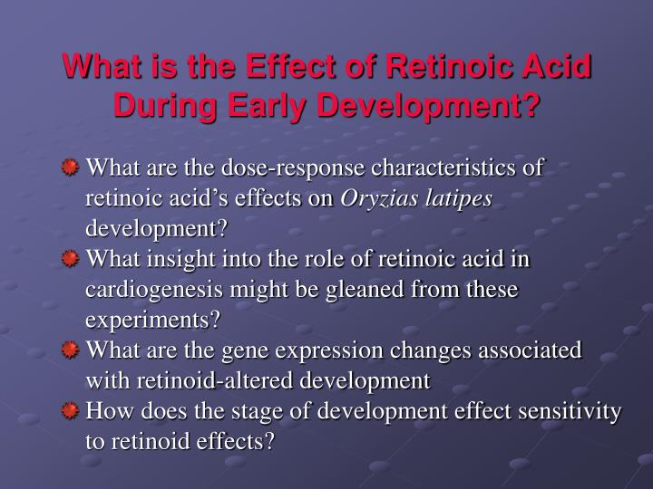 What is the Effect of Retinoic Acid During Early Development?