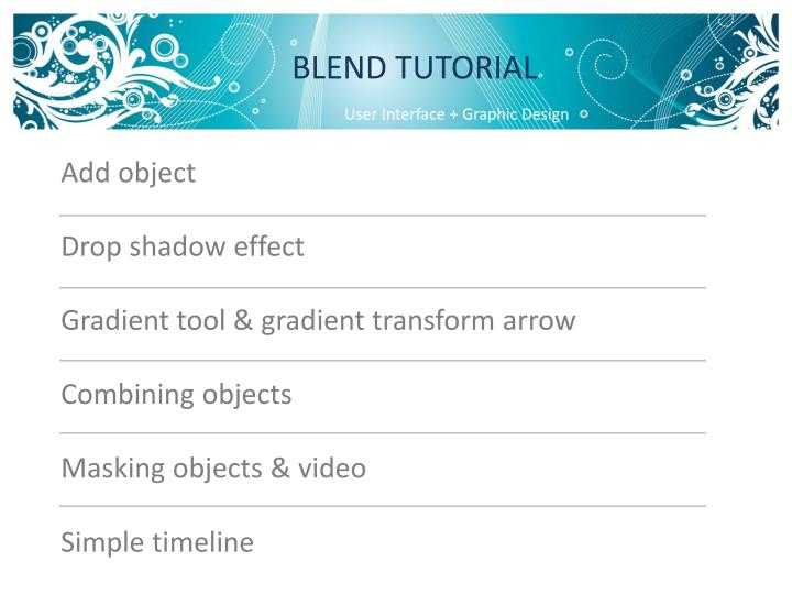 BLEND TUTORIAL