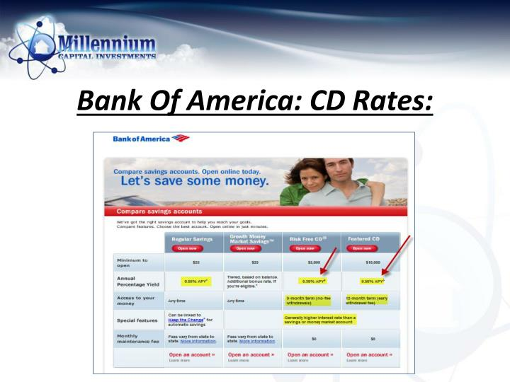 bank of america cd rates 2019