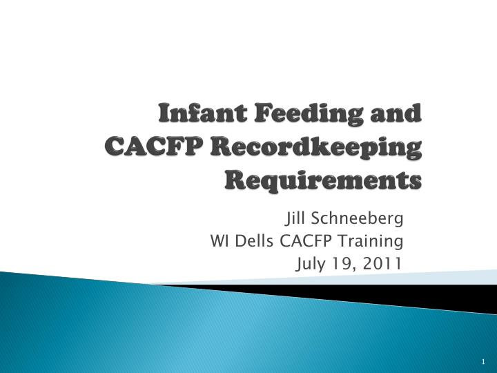 infant feeding and cacfp recordkeeping requirements n.
